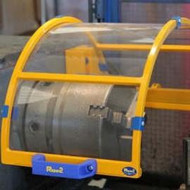 Proteção de máquinas e equipamentos rotativos